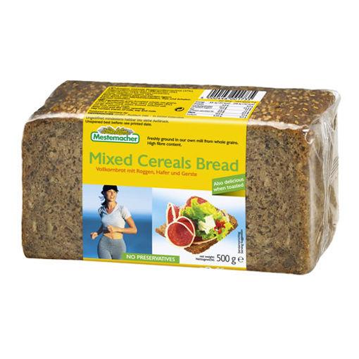 Mestemacher Tam Tahil Ekmek Üç Hububatli 500gr nin resmi