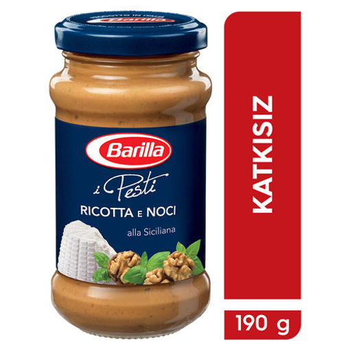 Barilla Makarna Sosu Ricotta Ve Cevizli 190gr nin resmi