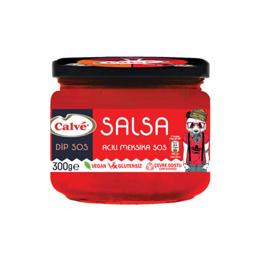 Calve Vegan Glutensiz Salsa Acili Meksika Sos 300g nin resmi