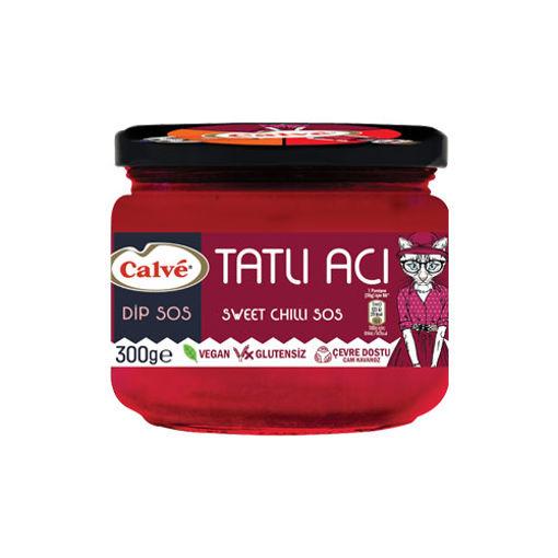 Calve Vegan Glutensiz Tatli -Aci Dip Sos 300gr nin resmi