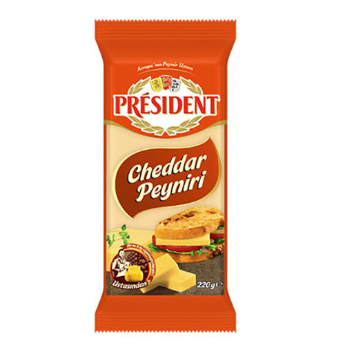 President Cheddar Peyniri 220gr nin resmi