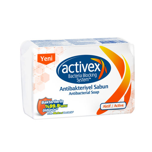 Activex Antibakteriyel Sabun Aktif 4x80 Gr nin resmi