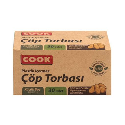 Cook Doğal Çöp Torbasi Küçük 40x47cm 30lu nin resmi