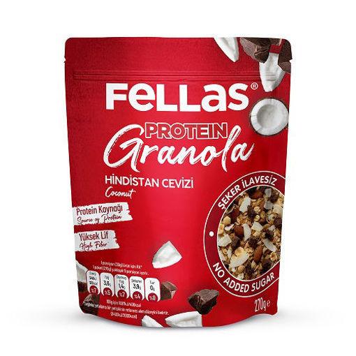 Fellas Protein Granola Hindistan Cevizi 270 Gr nin resmi