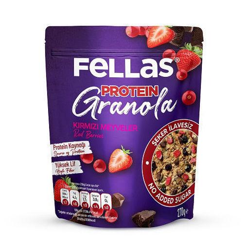 Fellas Protein Granola Kırmızı Meyveler 270 Gr nin resmi