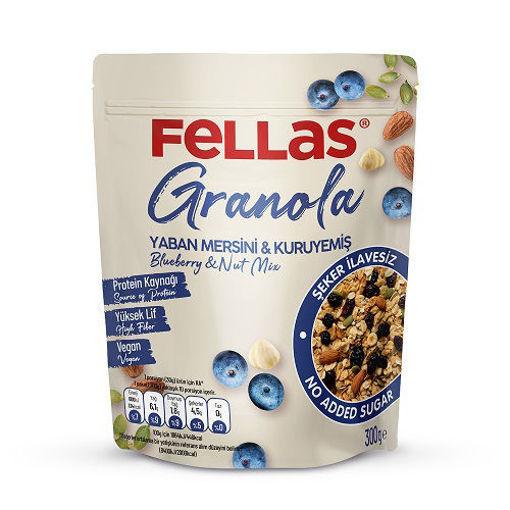 Fellas Vegan Granola Yaban Mersinli& Kuruyemişli 300 Gr nin resmi