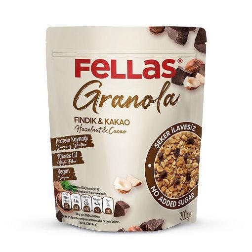 Fellas Vegan Granola Fındık&Kakao 300 Gr nin resmi
