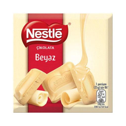 Nestle Beyaz Kare Çikolata 60 Gr nin resmi